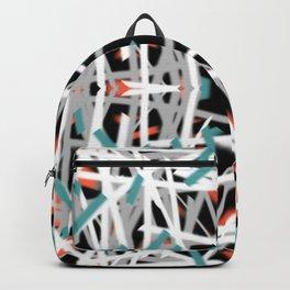 Blue Dashes | Saro-Gongo Pattern Backpack