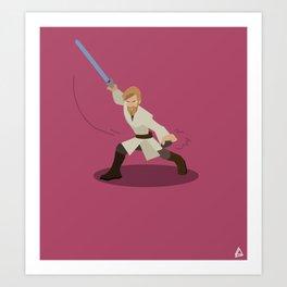 Obi-Wan Kenobi minimalist Flat design Art Print