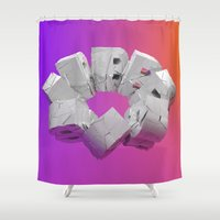 type Shower Curtains featuring Type by Edgar Paul Arias