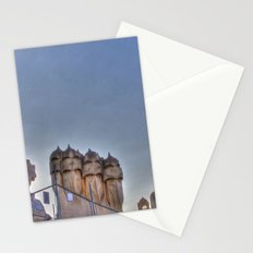Casa Milà rooftop, Barcelona, Spain Stationery Cards