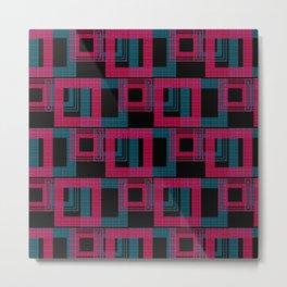 Geometric pattern . Leila . Metal Print