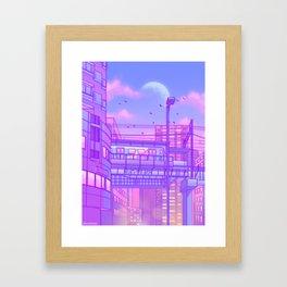 Cosmic City Train Framed Art Print