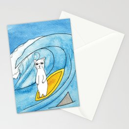 Meow The Cat's Surfing Adventure Stationery Cards