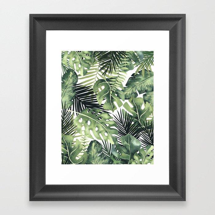 Tropical Leaves Gerahmter Kunstdruck