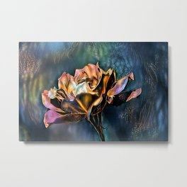 Gold Rose Collection. Metal Print