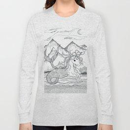 Unicorn Mermaid Long Sleeve T-shirt
