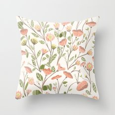 Spring Floral Pattern Throw Pillow