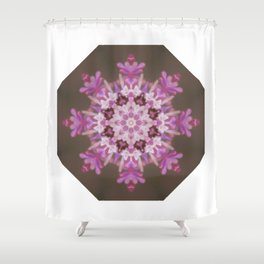 Lilac floral flake Shower Curtain