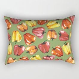 Bell Peppers Pattern Rectangular Pillow