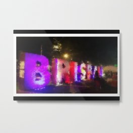 Brisbane City - Beautiful Brisbane Art - Digital Painting Metal Print