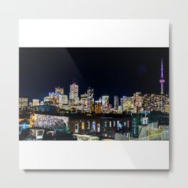 Toronto Night Moves Metal Print