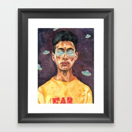 Space Donuts Framed Art Print