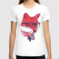 american T-shirts featuring American Fox by Robert Farkas
