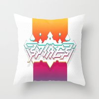 spires Throw Pillows featuring Spires : Crystyl Cystlys Spectrym  by Spires