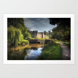 Cardiff castle and Bute Park Art Print