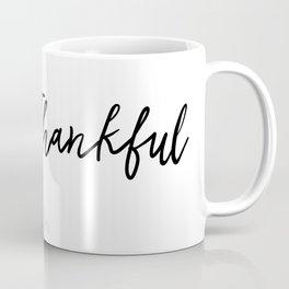 Fall/Autumn Pumpkin and Leaves, Thankful/Simple Falling Leaves Coffee Mug