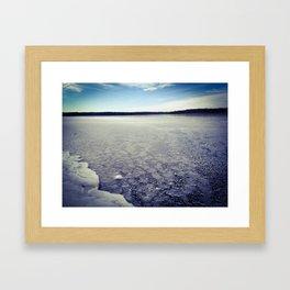 Icy Morning Framed Art Print