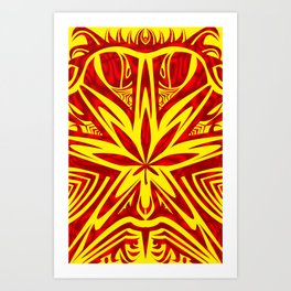 bud buggin red & yellow Art Print