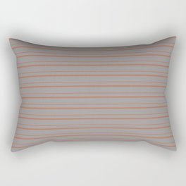 Cavern Clay Warm Terra Cotta SW 7701 Horizontal Line Patterns 3 on Slate Violet Gray Rectangular Pillow