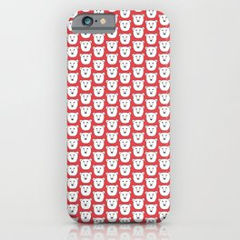 Red Polar Bear Portrait iPhone Case
