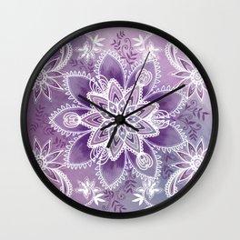Happiness Purple Wall Clock