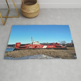 Hovercraft in Town Rug