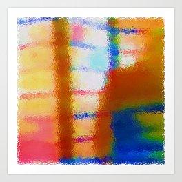 L'uomo Dietro Lo Schermo Art Print