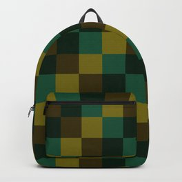Modern overlapping camo squares Backpack