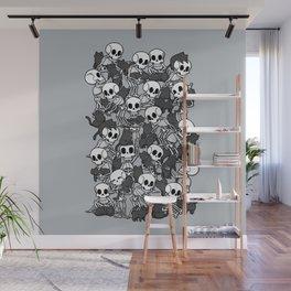 Cat Skull Party Wall Mural
