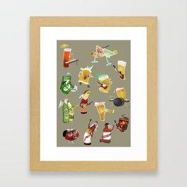 beer and music Framed Art Print