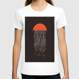 love rain in black T-shirt