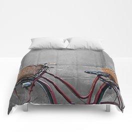 retro bicycle Comforters