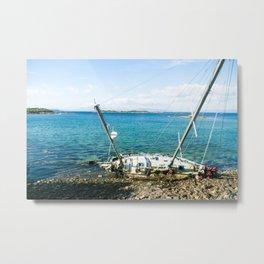 Shipwrek Metal Print