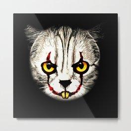 cat clown kittywise no text vector art Metal Print