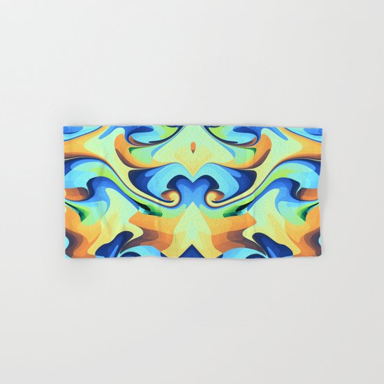 Color waves Water and Sun Hand & Bath Towel