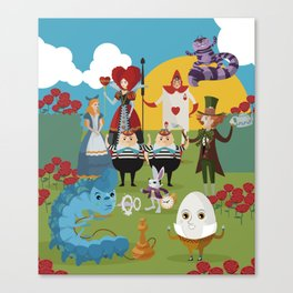 alice in wonderland collection Canvas Print
