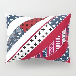 .Red blue Patriotic patchwork Pillow Sham