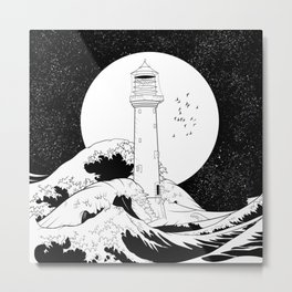 Bell Rock Lighthouse Metal Print