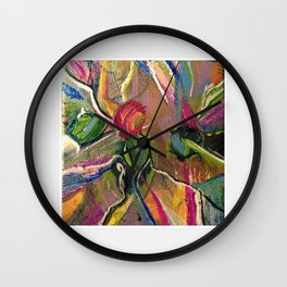 Petals in a Color Storm Wall Clock