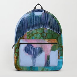 Day 13 In The Woods, Contemporary Abstract Landscape Backpack