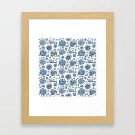 Delft Flowers Framed Art Print