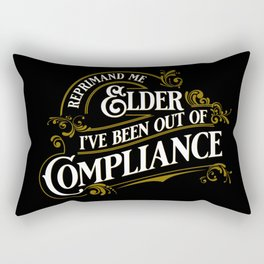 Reprimand Me Rectangular Pillow