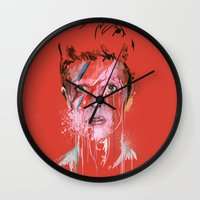 bowie Wall Clocks featuring Bowie by Marcello Castellani