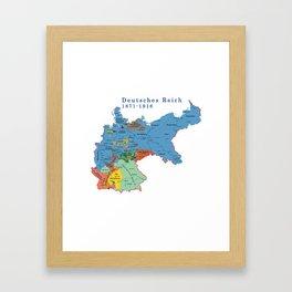 Old Germany, Deutsches Reich 1871-1918 Framed Art Print