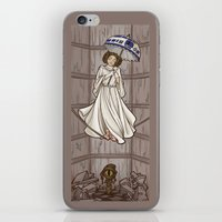 hallion iPhone & iPod Skins featuring Leia's Corruptible Mortal State by Karen Hallion Illustrations
