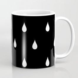Black and white rain drops Coffee Mug