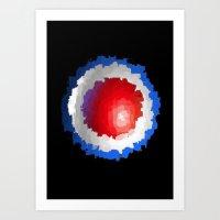 patriotic Art Prints featuring Patriotic  by C R Clifton Art
