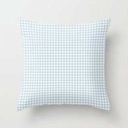 Baby Blue Gingham Check Throw Pillow