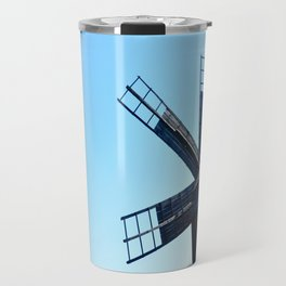 sibiu romania ethno museum wood wind mill Travel Mug