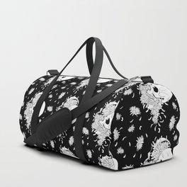 Pushing Up Daisies Black Pattern Duffle Bag